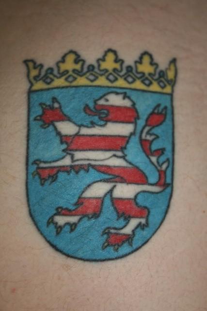 Tattoo meines Ex - Mannes - Hesse mit Leib und Seele ;o) auf der rechten Pobacke