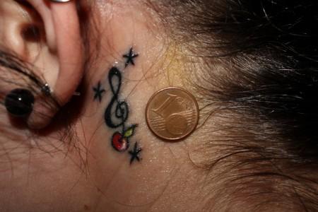 Suchergebnisse für Notenschlüssel-Tattoos   Tattoo