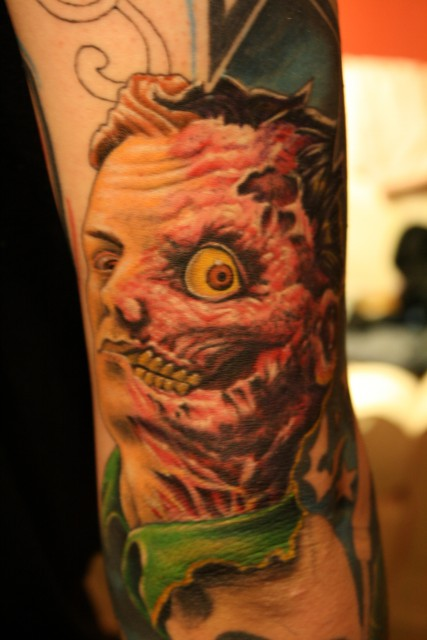 Moshpit two face tattoos von tattoo for Two faced tattoo
