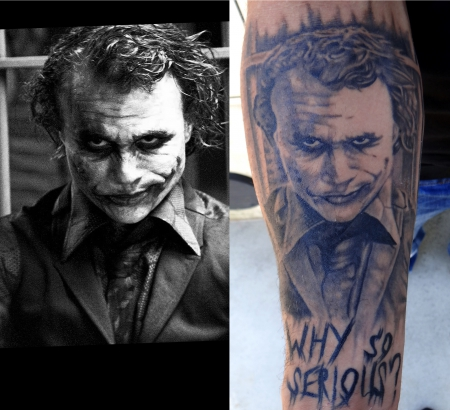 joker-Tattoo: why so serious ?  JOKER  (Unterarm)