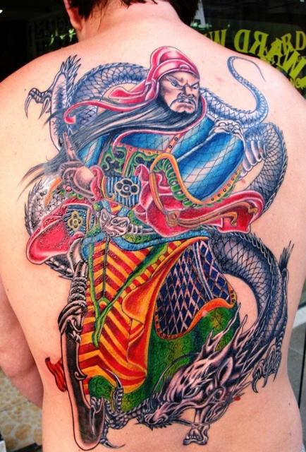 guan yu tattoo