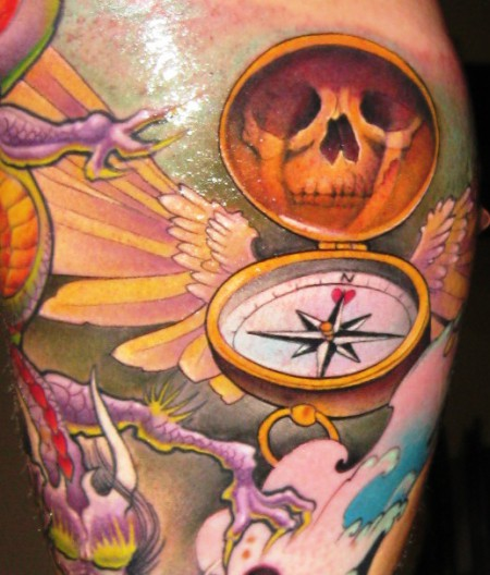 kompass des lebens tattoos von tattoo. Black Bedroom Furniture Sets. Home Design Ideas