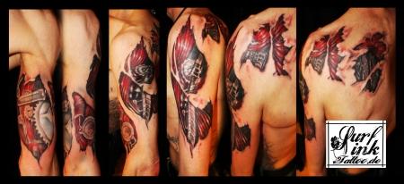 surf ink tattoo biomechanik tattoos von tattoo. Black Bedroom Furniture Sets. Home Design Ideas