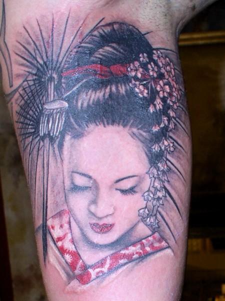 geisha-Tattoo: Die Geisha