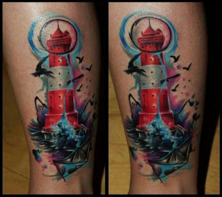 gaboa-Tattoo: Leuchtturm