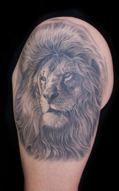 löwe-Tattoo: Löwenkopf by Mario Hartmann fertig