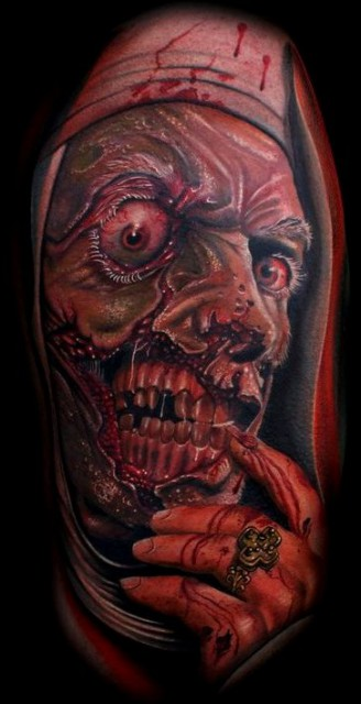 Illustration in Skin; Mario Hartmann; Flesh-Eating Church Sabbath