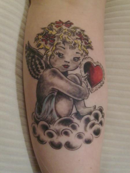 tina68 kleiner engel tattoos von tattoo. Black Bedroom Furniture Sets. Home Design Ideas
