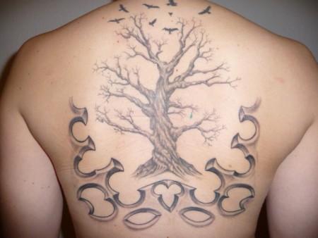 angel-Tattoo: baum 2te sitzung