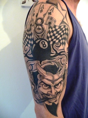 teufel-Tattoo: Rockabilly
