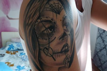 jean85 la catrina tattoos von tattoo. Black Bedroom Furniture Sets. Home Design Ideas
