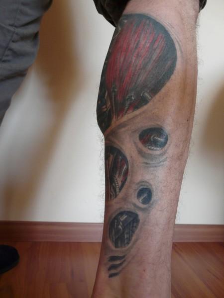 merkste was biomechanik sto d mpfer waade von rechts tattoos von tattoo. Black Bedroom Furniture Sets. Home Design Ideas