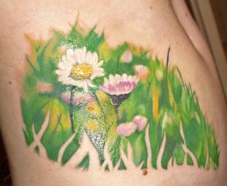 Gänseblümchen - Ein Stück Natur auf der Haut