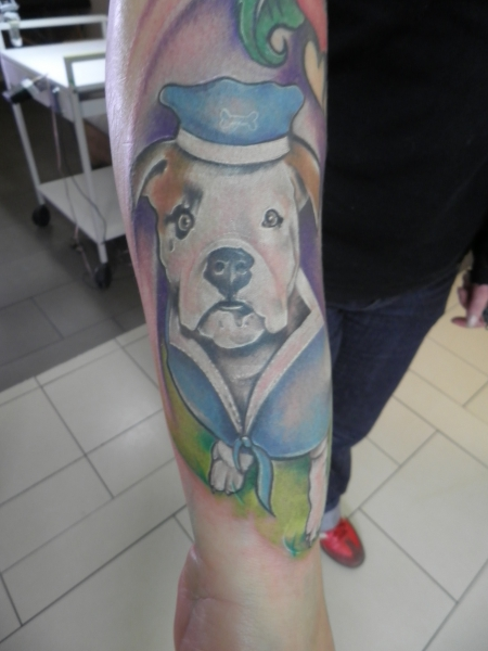 American Bulldog Comic Portrait Orginal Kommt ;) | Tattoos von Tattoo ...