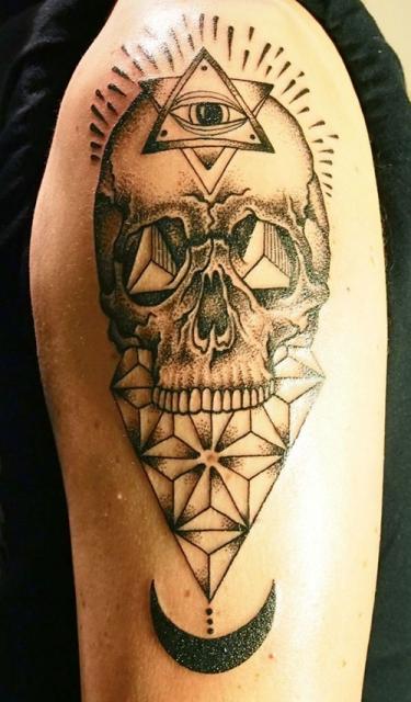 Dotwork-Skull