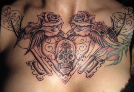 china-Tattoo: Chestpiece bei meiner Holden