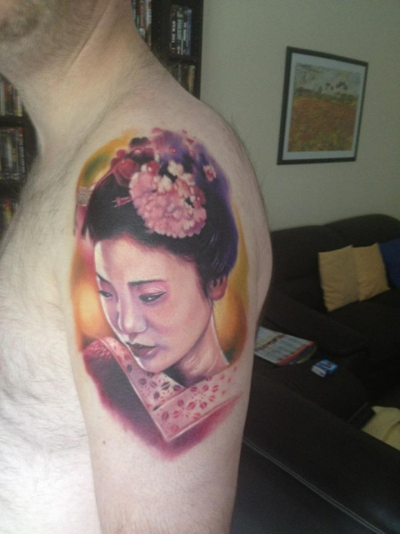 geisha-Tattoo: Geisha Portrait