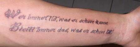 Tattoo Spruch Unterarm