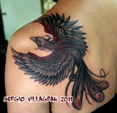 koi karpfen-Tattoo: Phönix