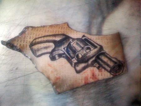 2.Versuch Revolver auf Schwein