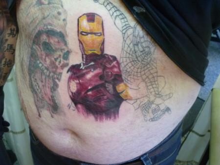 Selbstgestochenes Ironman Tattoo  ( Noch nicht fertig