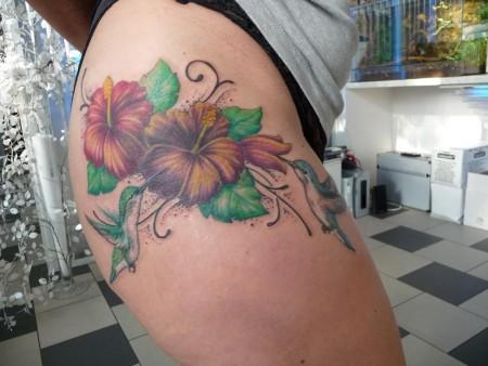 Blumen und Kolibris  Cover up