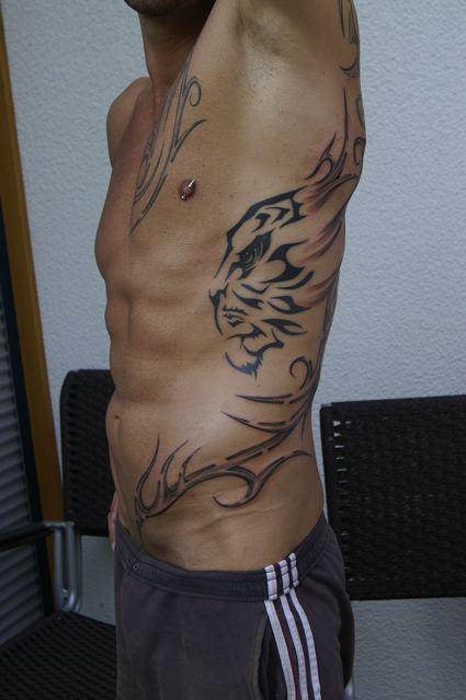 Halbe Körperseite mit TIGA-LEIN :-)