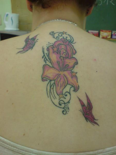 Rücken Blume Schmetterling