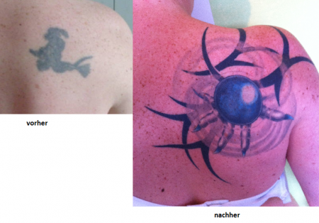 Cover Up einer Hexe