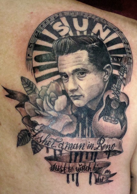 Tattoofreestyle Johnny Cash Rechte Schulter Tattoos Von Tattoo