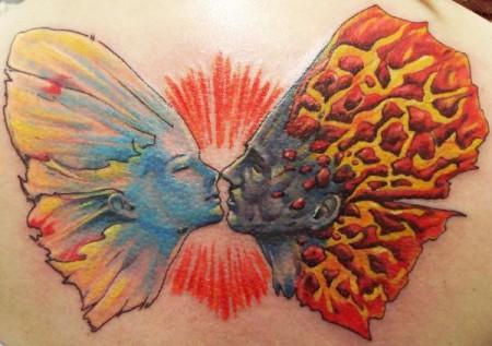 Fantasy Schmetterling Rücken