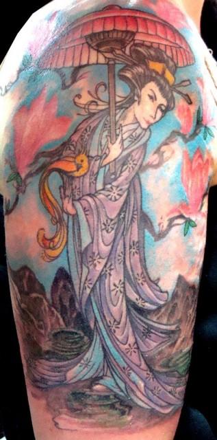 Geisha rechter Oberarm