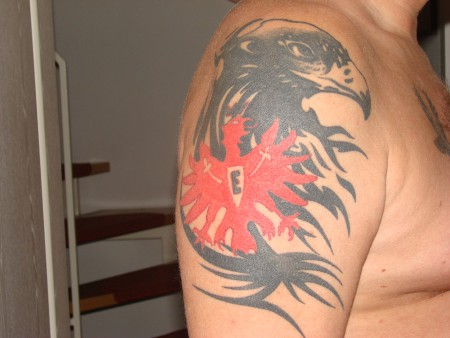 adler-Tattoo: Eintracht Tribal Adler