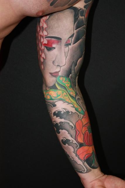 geisha-Tattoo: Geisha von Tom