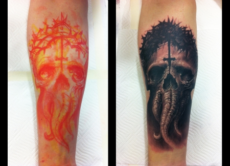 Tentacle - Skull (in Progress) - B'n'G Sleeve
