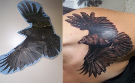 rabe-Tattoo: Rabe