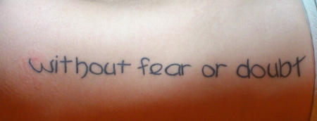 without fear or doubt
