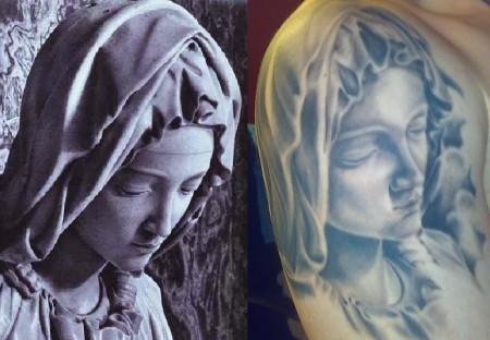 Vorlage und Tattoo