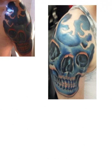 Skull vorher/nachher