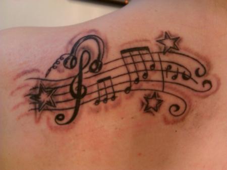 Franky1009 noten und sterne tattoos von tattoo for Tattoo noten