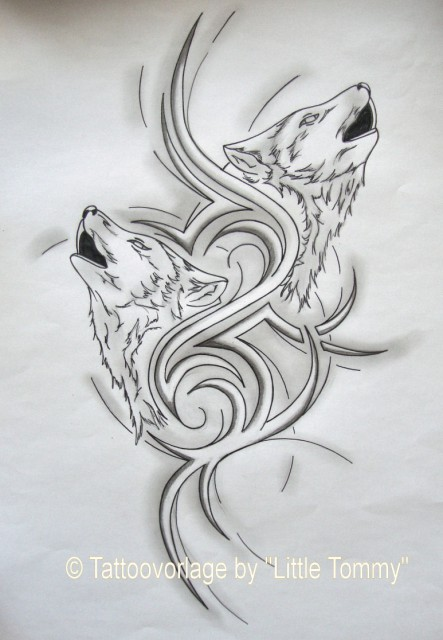 Littletommy 1982 Rucken Tattoovorlage Wolf Ii Tattoos Von