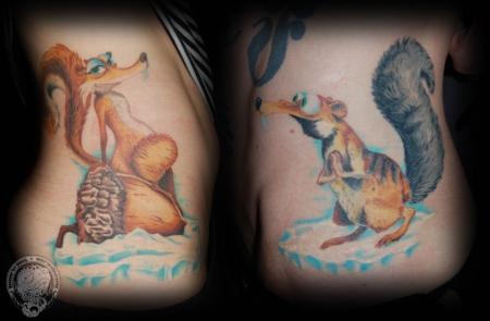zottl ice age scrat partnertattoo tattoos von tattoo. Black Bedroom Furniture Sets. Home Design Ideas