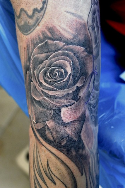 rose-Tattoo: Rose s/w