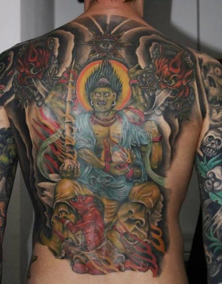 japan-Tattoo: back colour