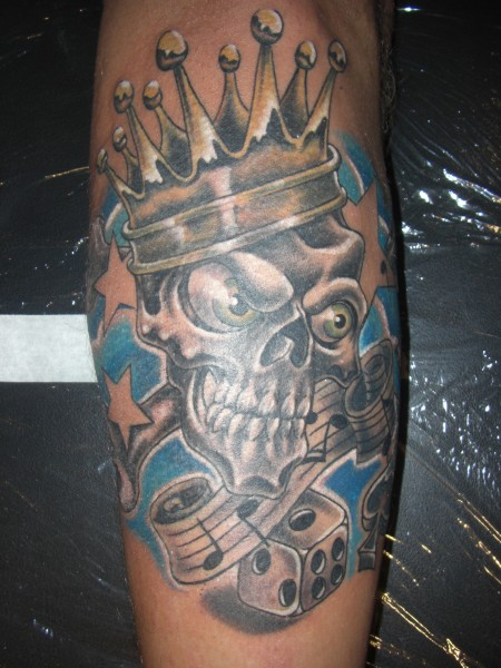 new School-Tattoo: New School Skull