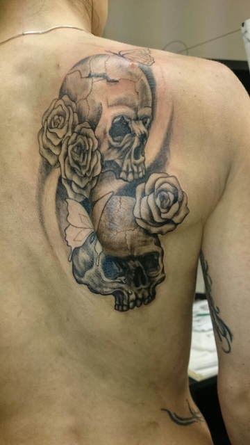 sugar-Tattoo: sugar skull 1te Sitzung