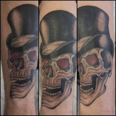 Harry One Life Totenkopf Mit Zylinder Hut Tattoos Von Tattoo