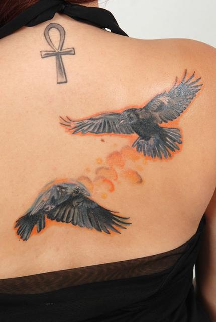 Die Mythologie Der Raben Tattoos Tattoo Spirit