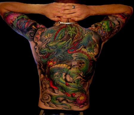 drachen-Tattoo: tätowiert und kein tattoo :)