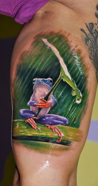 frosch-Tattoo: ...